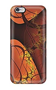 Rugged Skin Case Cover For iphone 6 plus - Eco-friendly Packaging(fractal)