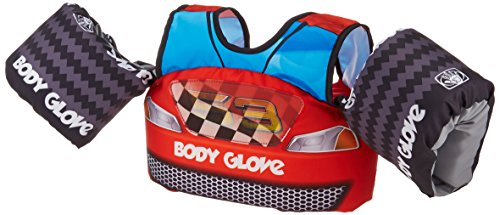Body Glove Kids 13226M Paddle Pals Motion Swim Life Jacket, Race Car
