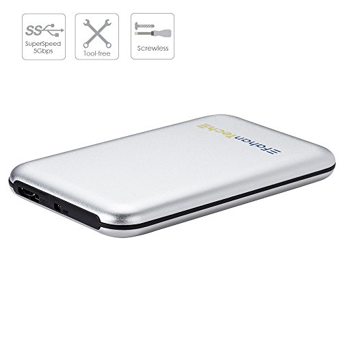FahanTech Simple Storage Series USB3.0 SuperSpeed External Hard Drive Enclosure for 2.5