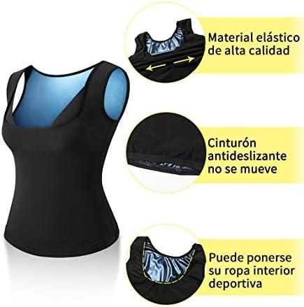 Gewichtsverlust Schlankheitsg/ürtel Fettverbrennung Thermo-Shirt f/ür Schwitzen Damen Fitness Premium Polymer komfortabel Kiwi RATA Saunaweste Sport