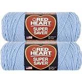 Bulk Buy: Red Heart Super Saver (2-pack) (Light Blue)