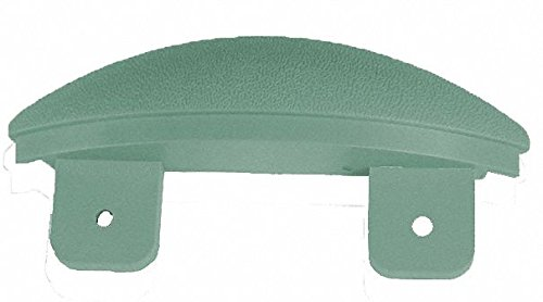 Teal End Cap, Screw In, Molded Plastic, Width 1-1/16'', Height 5'', Thickness 1-1/16''