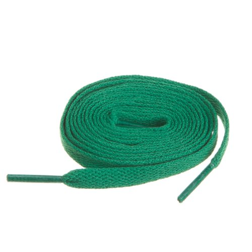 """Birch Shoelaces in 27 Colors Flat 5/16"""" Shoe Laces in 4 Different Lengths (45.5""""(115cm) L, Green)"""