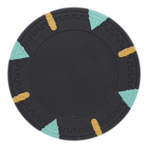 Denominated Poker Chips Composite Clay - Claysmith Gaming Triangle & Stick Poker Chip Heavyweight 13.5-Gram Clay Composite – Pack of 50 (Black)