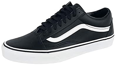 Vans Unisex Adults' Old Skool Leather Trainers, (Classic Tumble/Black/True White), 4.5 UK 37 EU,VA38G1NQR
