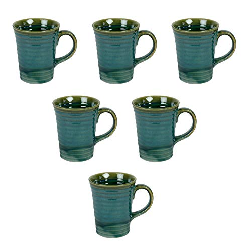 Unravel India blue studio ceramic tea/coffee mug (Set of 6)