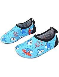 5c1a98876a73 Kids Swim Water Shoes Barefoot Aqua Socks Shoes for Beach Pool Surfing Yoga