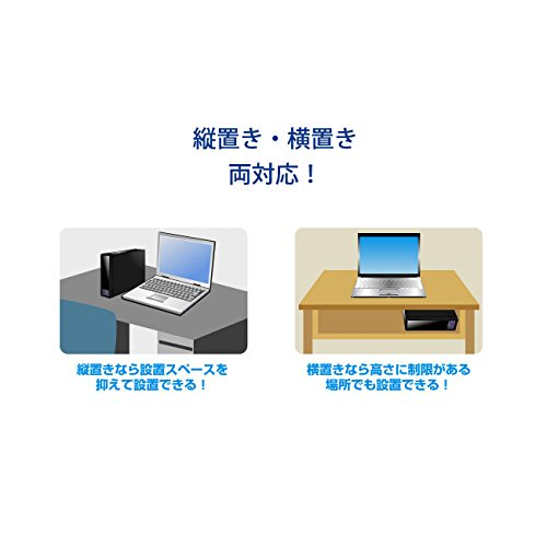 IO DATA silent cooling fan installed (built-in power supply) USB connected external hard disk 2.0TB HDE-U2.0J [Frustration-Free Packaging (FFP)] by IO Data (Image #3)