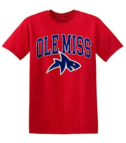 Elite Fan Shop Mississippi Ole Miss Rebels Tshirt Red Shark - L