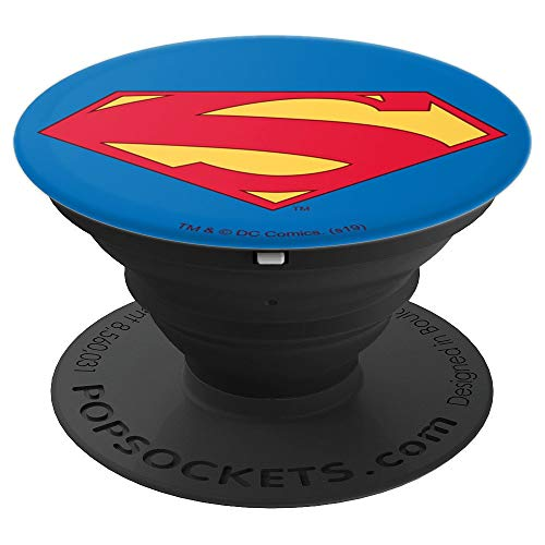 Superman New 52 Shield Logo Popsockets Grip And Stand For Phones And Tablets