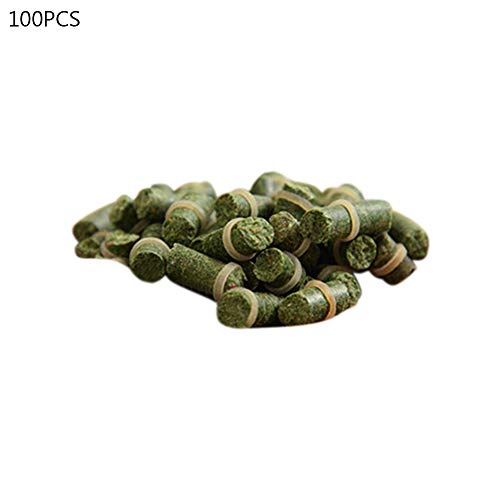hAohAnwuyg Fishing Baits,100Pcs Carp Baits Fresh Scent Crucian Grass Lures Tackle Food Accessory for River Sea Fishing Green