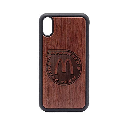 McDonald's Racing Team - iPhone XR Case - Rosewood Premium Slim & Lightweight Traveler Wooden Protective Phone Case - Unique, Stylish & Eco-Friendly - Designed for iPhone XR