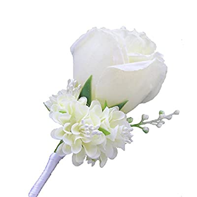WeddingBobDIY Boutonniere Buttonholes Groom Groomsman Best Man Rose Wedding Flowers Accessories Prom Suit Decoration