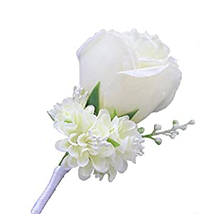 WeddingBobDIY Boutonniere Buttonholes Groom Groomsman Best Man Rose Wedding Flowers Accessories Prom Suit Decoration 29