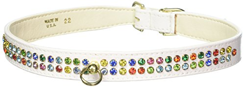 Mirage Pet Products No.76 Dog Collar, 22-Inch, White