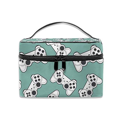 (Portable Travel Makeup Cosmetic Bags Fun Joystick Professional Toiletry Bag Organizer, Accessories Case, Tools Case)