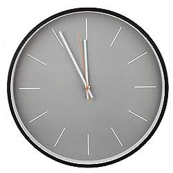 AUNMAS Metal Decorative Wall Clock Minimalist Clock Nordic Style Round Frame Mute Quiet Clocks for Home Decor