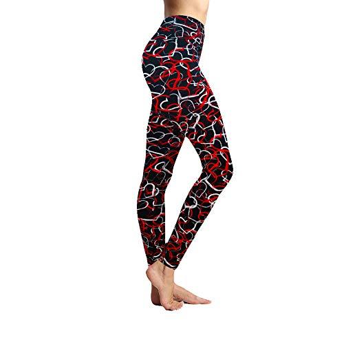 - ACTINPUT Leggings Depot Women's Ultra Soft Printed Fashion Leggings (Plus Size, Multicolored Hearts)