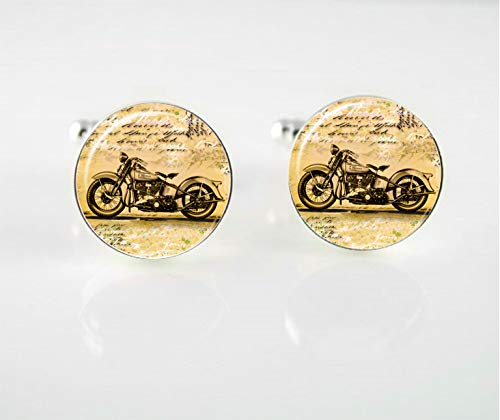 Vintage Motorcycle Cuff Links ()