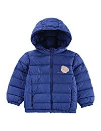 Classic Teddy Baby Boys Girls Down Jacket Kids Hoodie Coat Winter Outerwear
