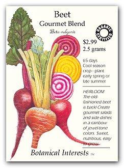 amazon com beets gourmet blend certified organic heirloom seeds