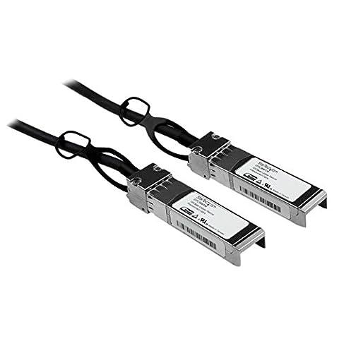 StarTech.com Cisco SFP-H10GB-CU1M Compatible – 1m – 10 Gigabit Ethernet – Twinax Cable – Copper SFP+ Cable – 10gBase-CU SFP+