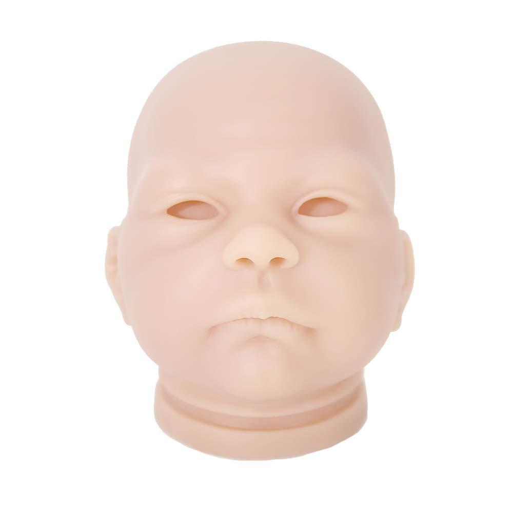 2Pack Soft 20/'/' Vinyl Unpainted Reborn Doll Head Mold Kits Newborn Baby Doll DIY