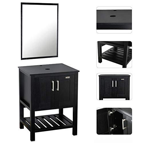 LUCKWIND Bathroom Vanity Cabinet Suite - Lavatory Stand 24