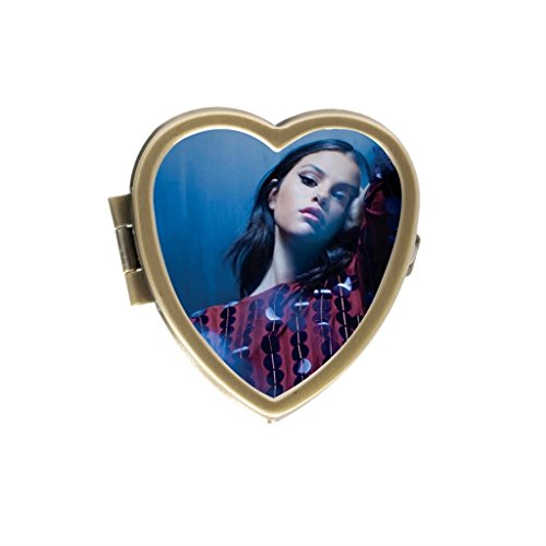 Cute Selena Gomez Custom Fashion Style Bronze Stainless Steel Heart-shaped Pill Box Vitamins - Selena Cute
