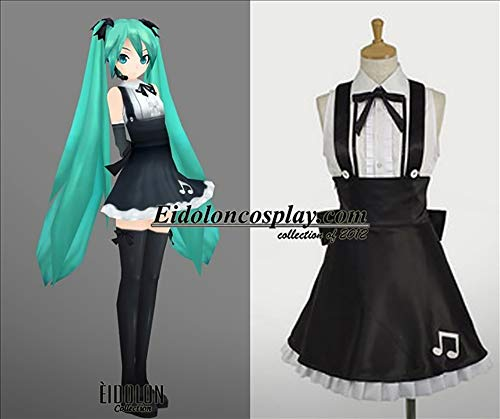 Vocaloid Hatsune Miku Cosplay Halloween Costume Game Music for Cosplay Show Party Women Girl,S -