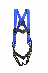 Elk River 48353 Construction Plus Polyester/Nylon 3 D-Ring Harness with Tongue buckles, Fits Small to X-Large