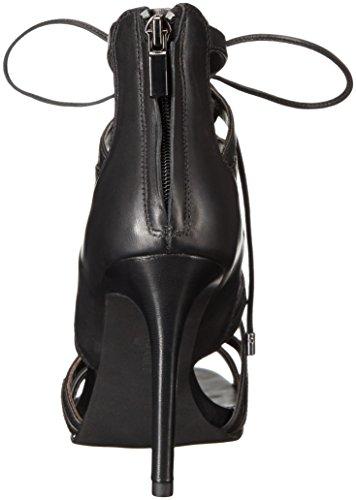 Kenneth Cole Brielle, Scarpe col Tacco con Cinturino a T Donna Nero (Black 001)