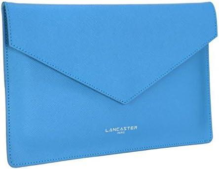 Lancaster-Estuche piel de vaqueta element saffiano para mujer 26 cm, color azul: Amazon.es: Equipaje