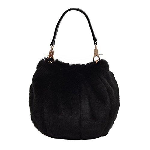 Bolso De Cubo Personalizado Para Mujer Bolso De Felpa Black