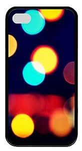 Blurred Vision Custom Designer TPU Silicone Case Cover for iPhone 4/4S ¡§CBlack