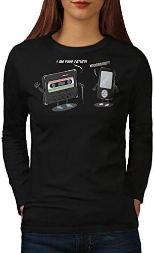 joueur Casual Design Wellcoda Technologie 9 S Musique Femme T-shirt à manches longues