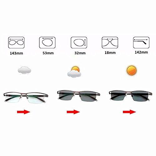 fotocromática Marrón de ZoliTime progresivas transición de lectura Lentes gafas gafas de multifocales gg1qBAP
