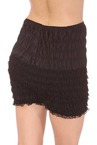 Malco Modes Womens Ruffle Panties Bloomers Dance Bloomers, Sissy Steampunk (Black, X-Small) ()