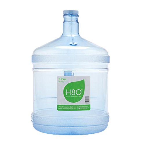 H8O Polycarbonate 3 gallon Stubby Water Bottle (with Handle) with 48mm Cap ()