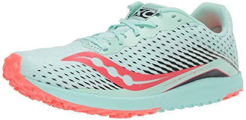 Saucony Women's Kilkenny XC8 Flat Track Shoe, Mint/Vizi Coral, 8 Medium US