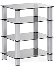 FITUEYES Media Component Stand Audio Cabinet AV Shelf for/Apple Tv/Xbox One/ps4