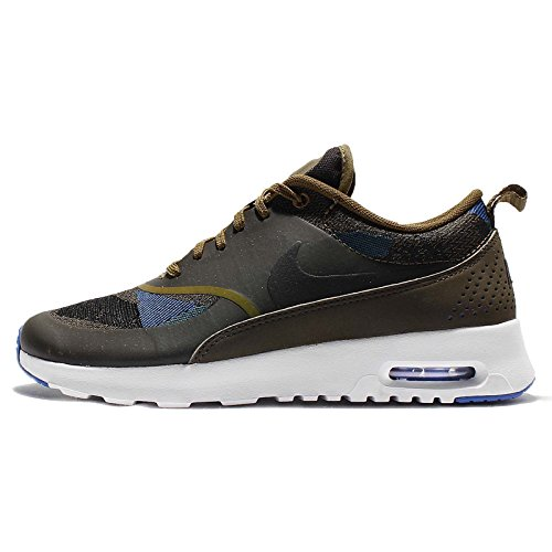 Nike Air Max Thea Jcrd Kvinners Oliven Flak / Svart-mørk Loden-spill Konge