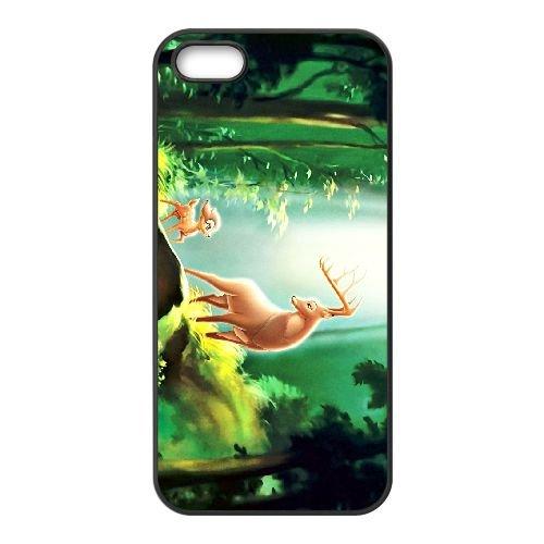 Bambi 024 coque iPhone 5 5s cellulaire cas coque de téléphone cas téléphone cellulaire noir couvercle EOKXLLNCD26334