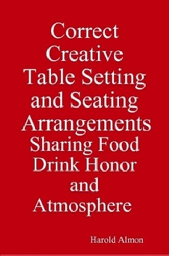 Correct Creative Table Setting and Seating Arrangements, Dining Etiquette for University Students, Sharing Drink Atmosphere Food and Honor