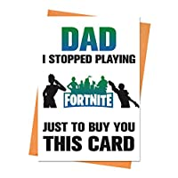 Funny Birthday Card, Fortnite Birthday Card, Boyfriend Birthday, Husband Birthday Card, Dad I Stopped Playing Fortnite Greeting Card