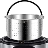 The Original - Steamer Basket Insert, Stainless Steel - for 6 qt and 8 Quart Instant Pot, Pressure Cooker - Strainer for Pasta, Rice Tamales, Fish, Veggies, Eggs
