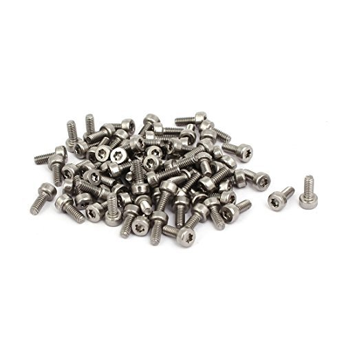 M2x5mm Thread T6 Torx Drive 304 80mm Stainless Steel Torx Hollow Head Screw