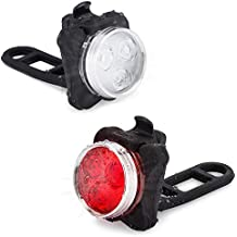 Vont USB Rechargeable Bike Light Set, Bright Front Back Illumination, The Only LED Bicycle Light You'll Need. Super Long Battery Life, IPX4 Water Resistant, Lights, Accessories, 4 Different Modes