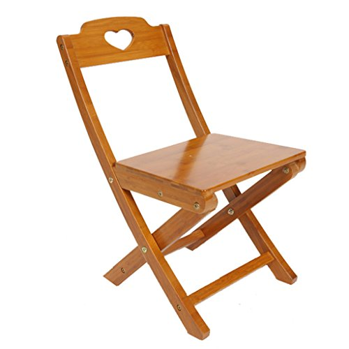 Folding Chairs Wood color bamboo back portable outdoor Mazar 121322 inches ()