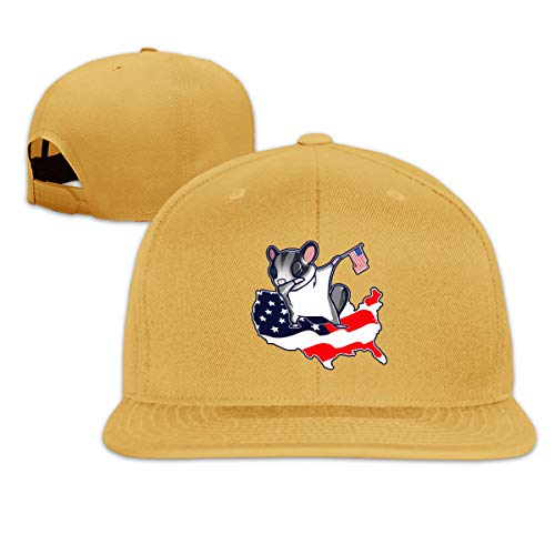 ONE-HEART HR Baseball Cap Funny Dabbing On American Flag Adjustable Custom Flat Peaked Hat Unisex